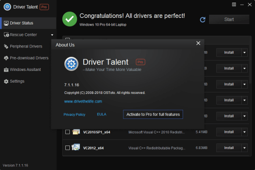 Driver Talent Pro 7.1.1.16 Full Keygen & Activator Download
