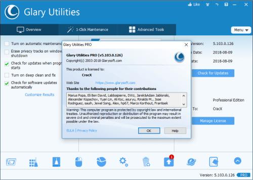Glary Utilities Pro 5.103.0.125 Keygen & Activator Download