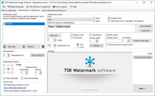 TSR Watermark Image Pro 3.5.9.5 Patch + License Key Download