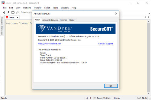 SecureCRT and SecureFX 8.5.0 Serial Key + Patch Download