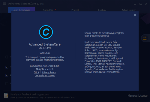 Advanced SystemCare Pro 12.0.3.199 Keygen & Activator Download