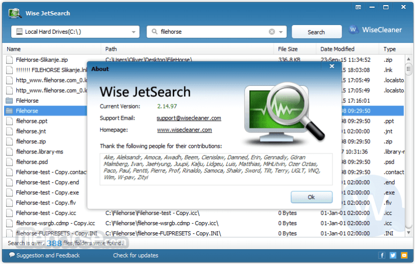 Wise JetSearch 2.32 Portable Free Download