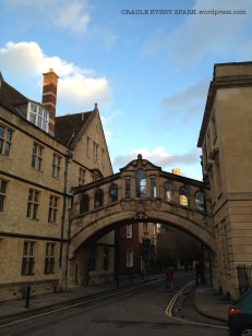 Oxford's own Bridge of Sighs. There is also one in Cambridge (but nothing beats Venice!)