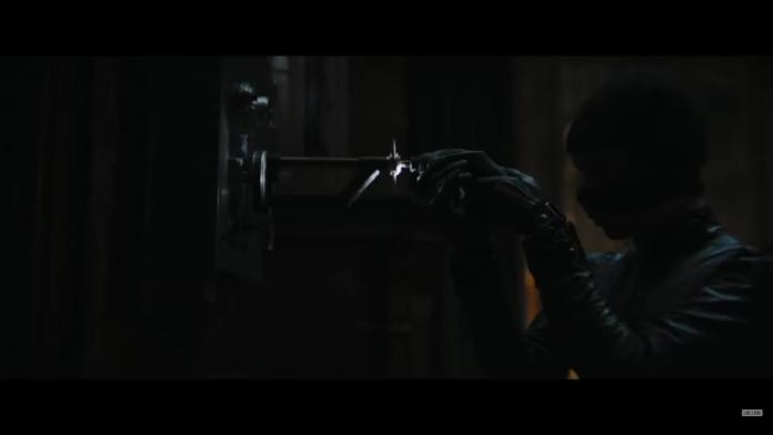 Still of Catwoman in The Batman trailer