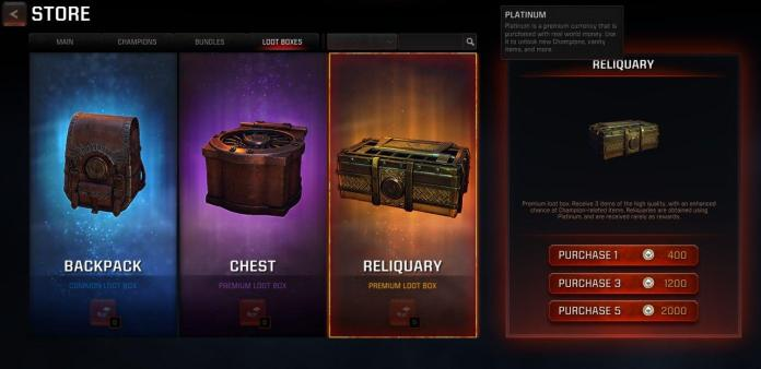 Lootboxes in video games