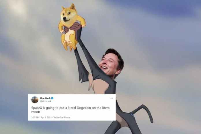 Elon Musk Will Place Literal Dogecoin on Literal Moon