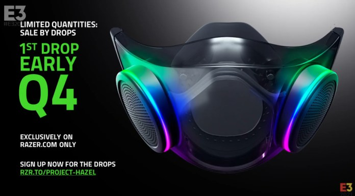 Razer's Hazel N95 mask will go on sale in the early Q4 of 2021