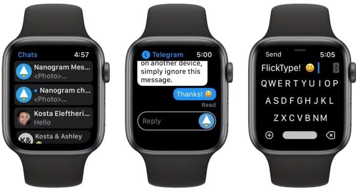 Nanogram Messenger - A Standalone Telegram App for your Apple Watch