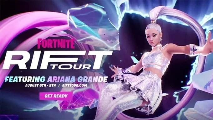 Ariana Grande will do five shows for Fortnite's Rift Tour