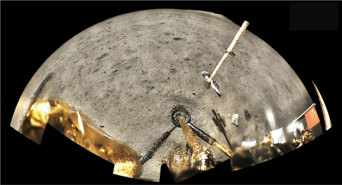 The Chang'e-5 Moon Mission landing site, photographed by the lander