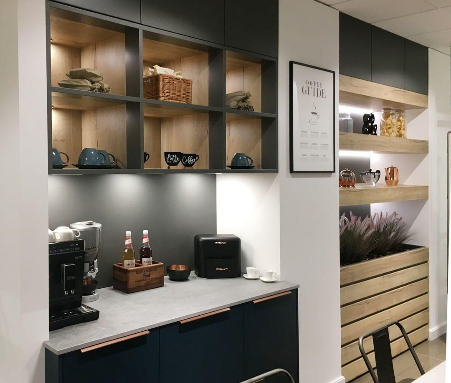 using storage shelves in your kitchen