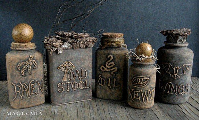 Image result for diy halloween potion bottles
