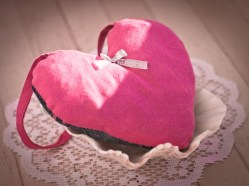 lovely pink with silver ribbon