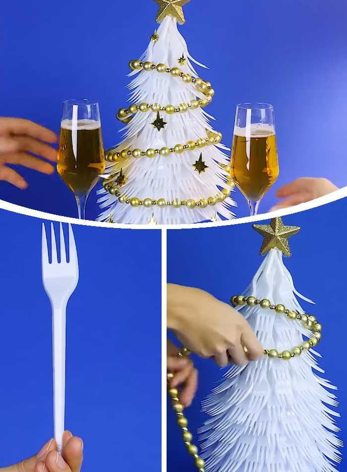 Plastic Fork Tree