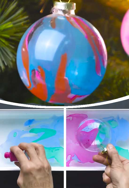 Water Marble Bauble