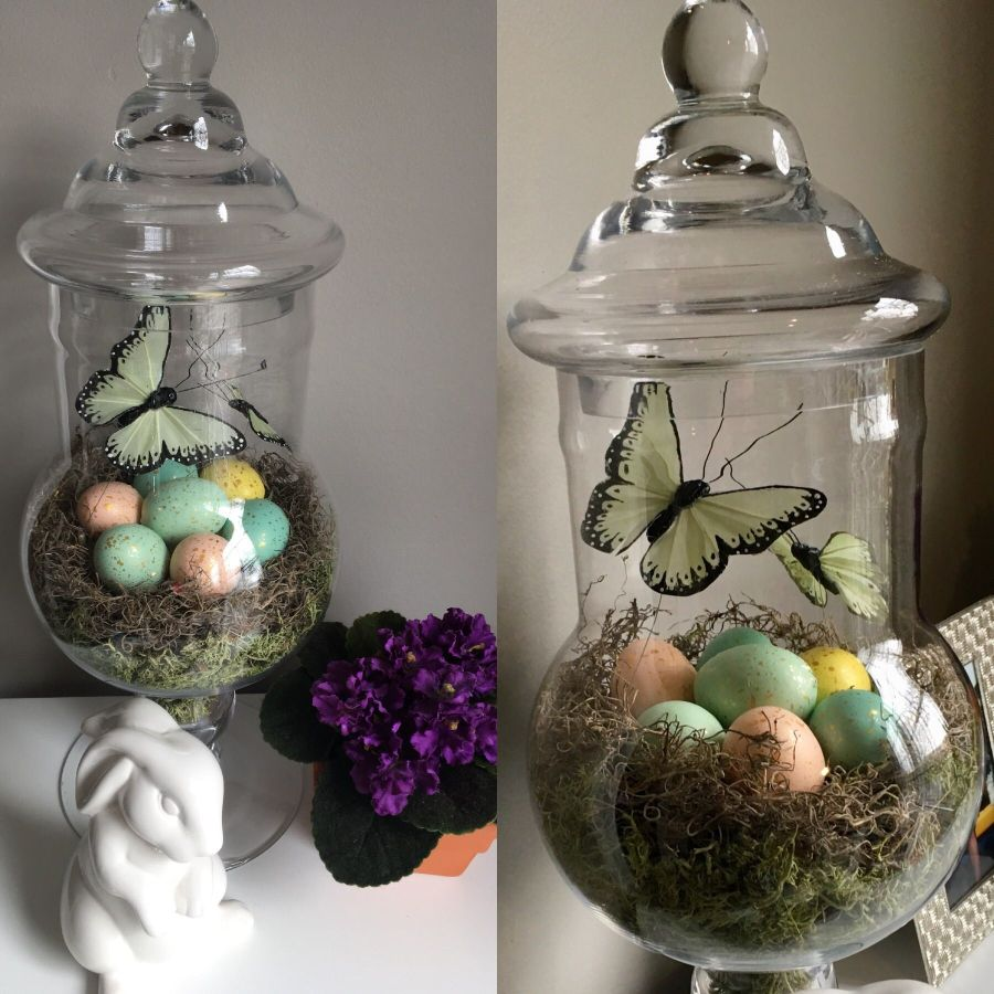 Easter Apothecary Jar Ideas