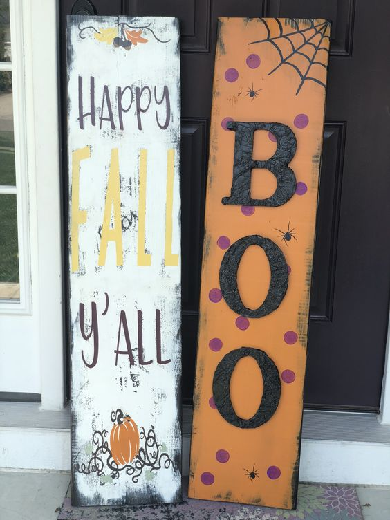 Fall Porch Signs