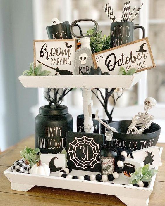 Halloween Tiered Tray Ideas