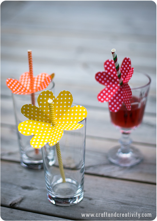 Sweet Floral Straws - by Craft & Creativity