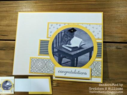 Grad Cat Fun Fold Card Watermark