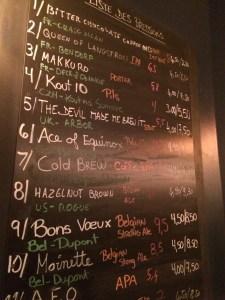 Beer List: Hoppy Corner, Paris