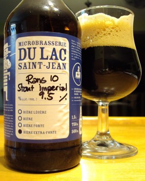 Rang 10 Stout Imperial Microbrasserie Du Lac St-Jean craftbeerquebec.ca