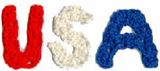 Patriotic USA Crochet Letters