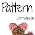 Crochet Mouse Magnet