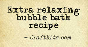 Bubble Bath – Relaxing