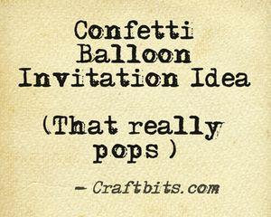 Confetti Balloon Invitation