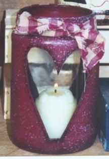 Heart Candle Jar Holder