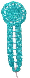Key Shaped Bookmark Crochet Pattern