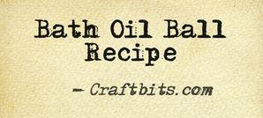 bath oil ball recipe