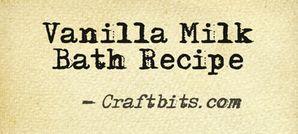 Vanilla milk bath recipe