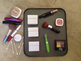 Tampon Box Makeup Organizer