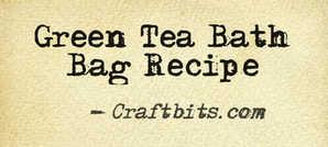 green tea bath bag