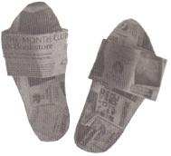Newspaper Slippers