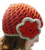 Chunky lace knit cap