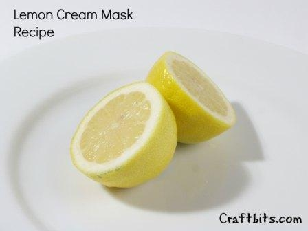 Lemon Cream Mask Recipe