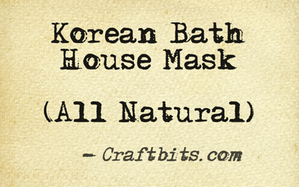 Korean Bath House Mask