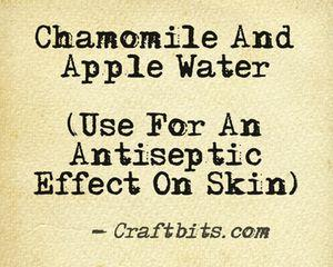 Chamomile And Apple Water