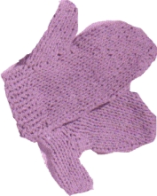 Vintage Knitted Oven Mitts