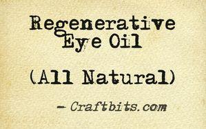 Regenerative Eye Oil