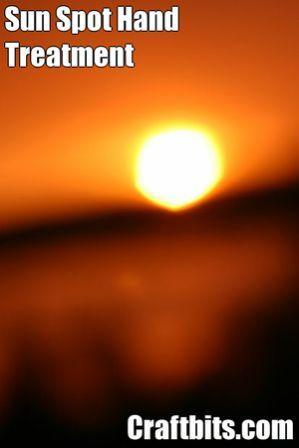 Sun Spot Hand Treatment