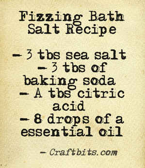 Fizzing Bath Salt Recipe
