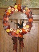 Halloween Cobweb Wreath