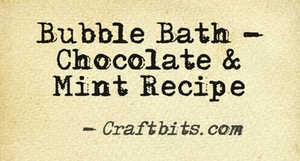 Bubble Bath – Chocolate & Mint