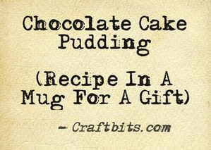 Chocolate Cake Pudding