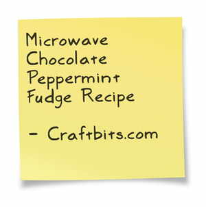 Microwave Chocolate Peppermint Fudge
