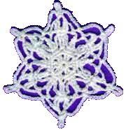 Crochet Snowflake Ornament